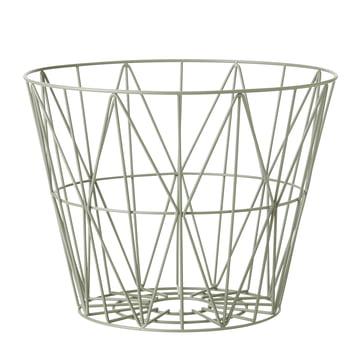 ferm Living - Wire Basket Medium, dusty green