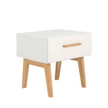 debe.deline Beside Table with drawer by de Breuyn in beige