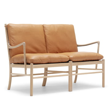 OW149-2 Colonial Sofa by Carl Hansen made from oiled oak and leather SIF 95