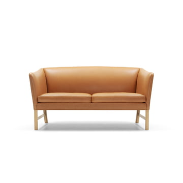 2-seater OW602-2 by Carl Hansen made from oiled oak and leather SIF 95