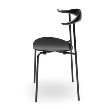 Carl Hansen - CH88T, Beech black lacquered / frame: steel powder coated
