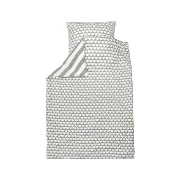 Reversible bed linen hearts 135 x 100cm from byGraziela in grey