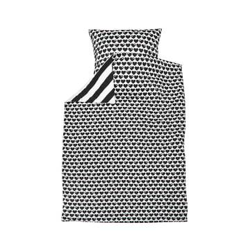 Reversible bed linen hearts 135 x 100cm from byGraziela in black