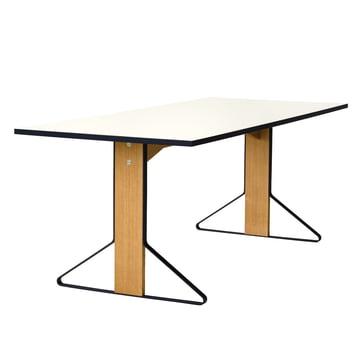 REB 001 Kaari Table 200 x 85cm by Artek in high gloss white made of natural oak