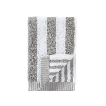 Marimekko - Kaksi Raitaa Guest Towel, grey / white, 30 x 50cm