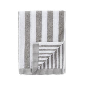 Marimekko - Kaksi Raitaa Towel, grey / white 50 x 100 cm