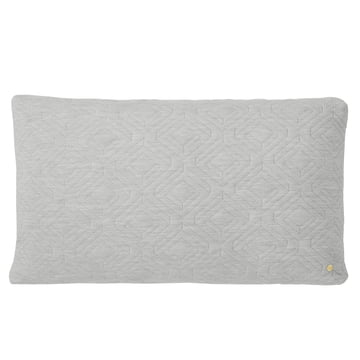 Quilt Cushion 80 x 50 cm by ferm Living in Light Grey