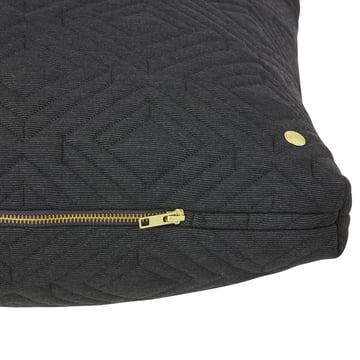 Quilt Cushion 80 x 50 cm by ferm Living in Dark Grey