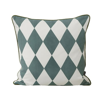 Geometry Cushion 50 x 50 cm by ferm Living in Teal