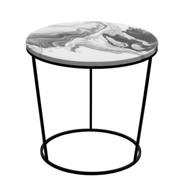 Chiara Side Table Large by Pulpo in white and black