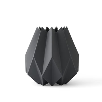 The Folded Vase tall by Menu in carbon