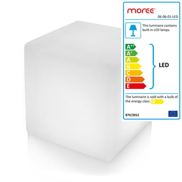 Moree - Cube Outdoor LED, translucent-white
