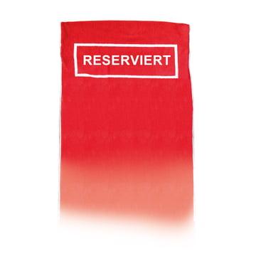 The Beach Towel 'Reserviert' by Jan Kurtz in red