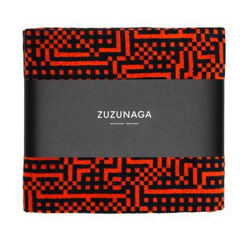 Zuzunaga - Route Black and Red / Orange Bath Sheet, 100 × 150 cm