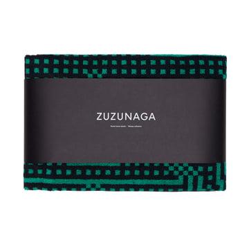 Zuzunaga - Route Black and Green Bath Towel, 70 × 140cm