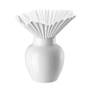 Rosenthal - Falda Vase,  white enamelled