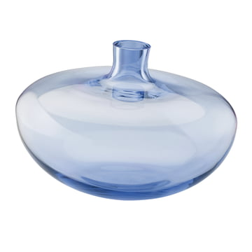 The Rosenthal Swinging Vase in the size of 26cm and the colour Midnight Blue / clear