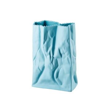 Rosenthal - Paper Bag Vase, 18cm, azur