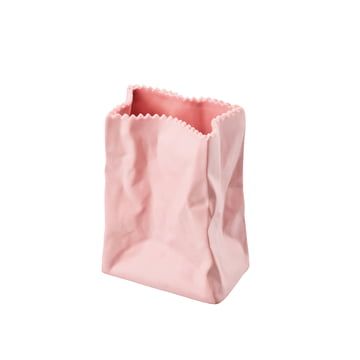 Rosenthal - Paper Bag Vase, 10cm, rosé