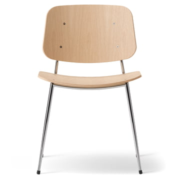 Søborg Chair by Fredericia in oak and chrome