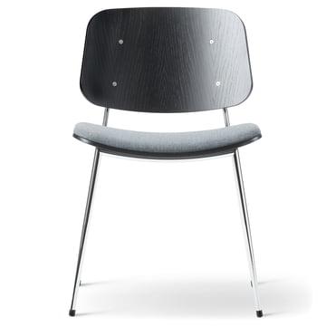 Søborg Chair by Fredericia in black/chrome