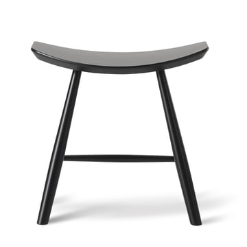 J63 Stool by Fredericia in Black Beech