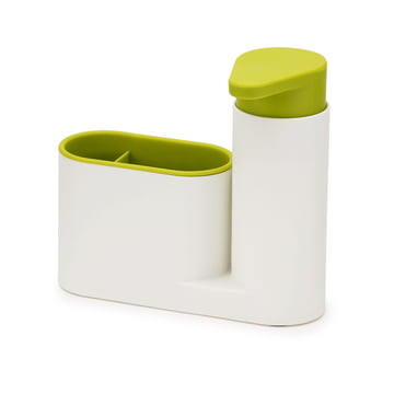 2 piece SinkBase Sink Cleaning Set by Joseph Joseph in white and green
