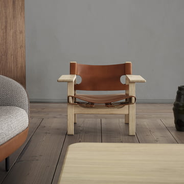 Spanish Chair by Fredericia with Extra-Wide Armrests