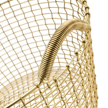 Classic 35 Wire Basket from Korbo made of Brass