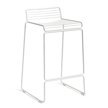 The Hay - Hee Bar Stool Low in white with a seat height of 65 cm