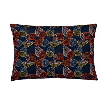 The rectangular cushion, 48 x 73cm in Hana No Mi dark blue / orange / yellow by Kvadrat
