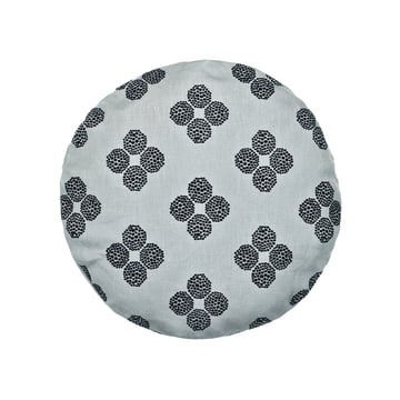 The Circular Cushion, Ø 43cm in Hana Beads grey / black by Kvadrat