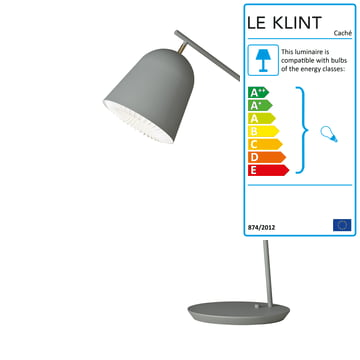 Caché lamp from Le Klint in grey