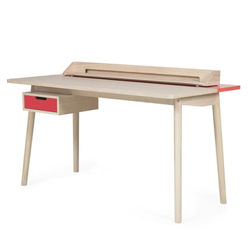 Honoré Desk by Hartô in strawberry red (RAL 3018)