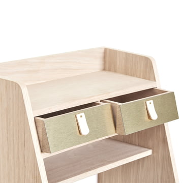 Drawers with Brass Fronts