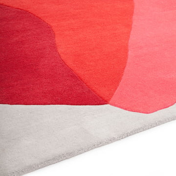 Carpet with Splodges in red and pink cameo