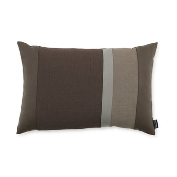 Line Cushion by Normann Copenhagen in the size 40 x 60 cm in the colour brown.