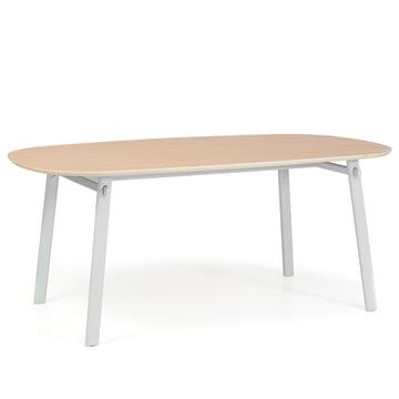 Céleste Dining Table 220 cm by Hartô in oak veneer / light grey