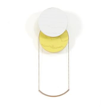 Lou Wall Hook by Hartô in Light Grey and Yellow