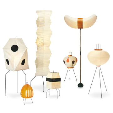 The Akari Floor Lamps by Vitra