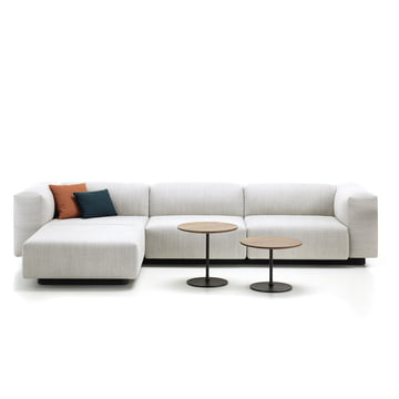 Soft Modular 3-Seater with Chaise Longue and Occasional Low Table