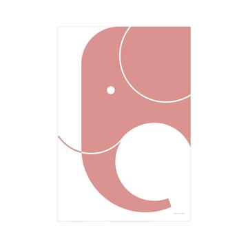snug.elephant art print by Snug.Studio in pink