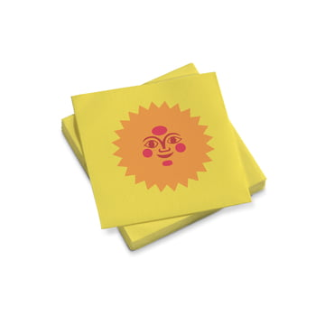 Vitra - Paper Napkins small, La Fonda Sun, yellow pink 25 x 25 cm