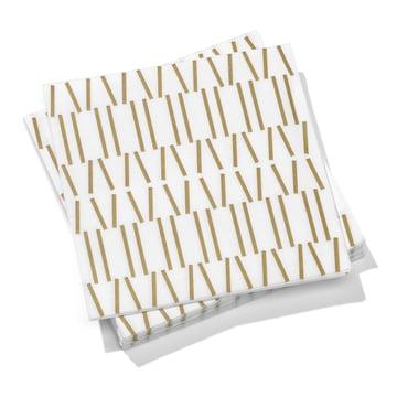 Vitra - Paper Napkins large, Broken Lines gold 40 x 40cm