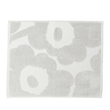 Unikko Solid Bath Mat in grey by Marimekko