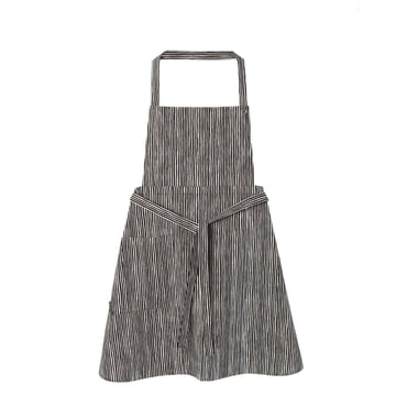 Varvunraita Apron by Marimekko in white / black