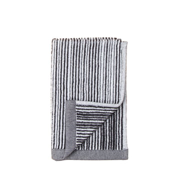 Varvunraita guest towel by Marimekko in black and white
