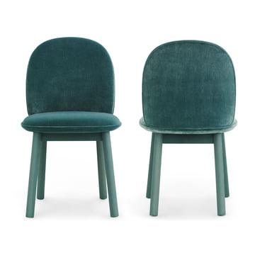 Normann Copenhagen - Ace Chair Velour, lake blue