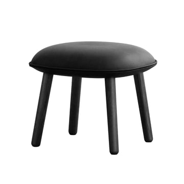 Ace Footstool Tango Leather from Normann Copenhagen in black