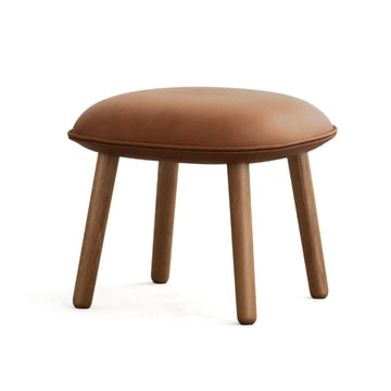 Ace Footstool Tango Leather from Normann Copenhagen in Brandy